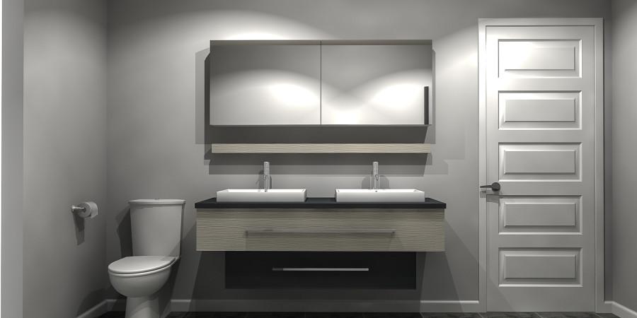 Unit 18 38 2 chambres zone aktu l - Zone salle de bain ...